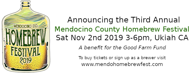 Announcing the 3rd Annual Mendocino County Homebrew Festival